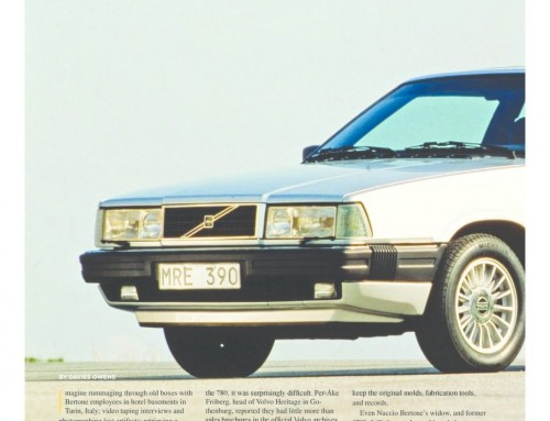 The Volvo 780 Bertone Story – (Rolling March 2015)
